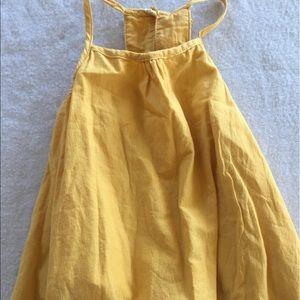 Tommy Bahama gold sundress w/ Pom Pom dangles!!